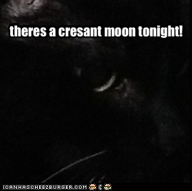 theres a cresant moon tonight!