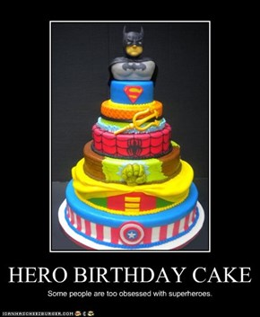 HERO BIRTHDAY CAKE