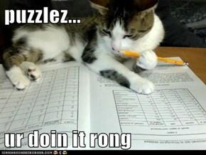 puzzlez...  ur doin it rong