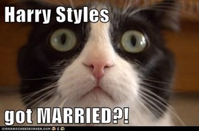 Harry Styles  got MARRIED?!