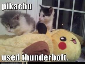 pikachu  used thunderbolt.