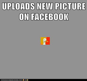 UPLOADS NEW PICTURE ON FACEBOOK