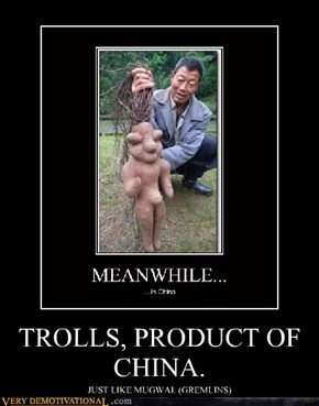 TROLLS, PRODUCT OF CHINA.