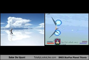 Salar De Uyuni Totally Looks Like SNES StarFox Planet Titania