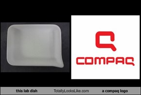 this lab dish Totally Looks Like a compaq logo