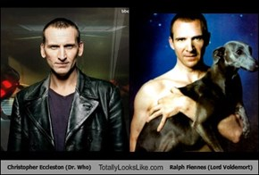 Christopher Eccleston (Dr. Who) Totally Looks Like Ralph Fiennes (Lord Voldemort)