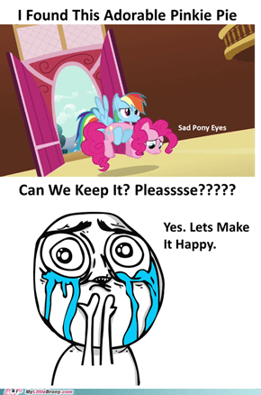 Sad pinkie is adorable too