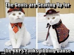 The Gents are Gearing Up for  the KKPS Fanksgibbing Danse