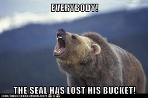 EVERYBODY!  THE SEAL HAS LOST HIS BUCKET!