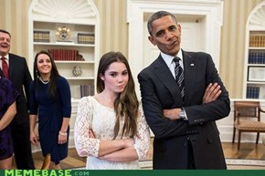 Meeting The President? Not Impressed.