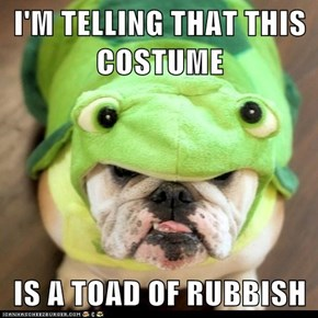 I'M TELLING THAT THIS COSTUME  IS A TOAD OF RUBBISH