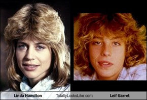 Linda Hamilton Totally Looks Like Leif Garret