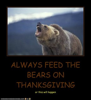 ALWAYS FEED THE BEARS ON THANKSGIVING