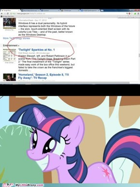 Twilight Sparkle is number 1!!
