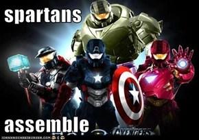 spartans  assemble