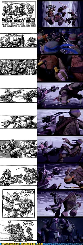 Shredder vs Turtles comparison