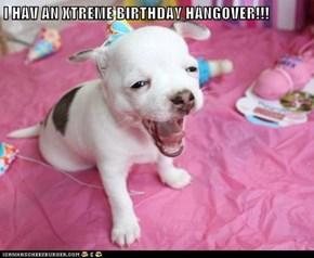 I HAV AN XTREME BIRTHDAY HANGOVER!!!