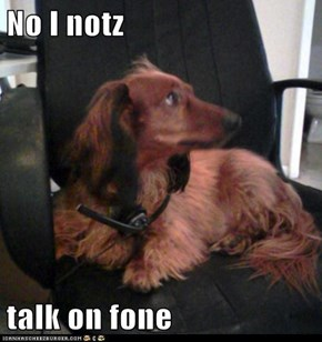 No I notz  talk on fone