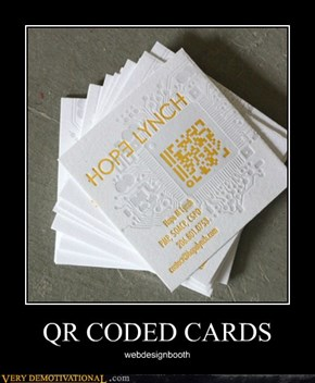 QR CODED CARDS
