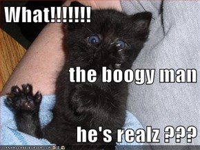What!!!!!!! the boogy man he's realz ???
