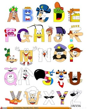 The Cereal Alphabet