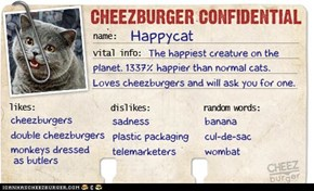 Cheezburger Confidential: Happycat