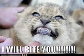I WILL BITE YOU!!!!!!!!