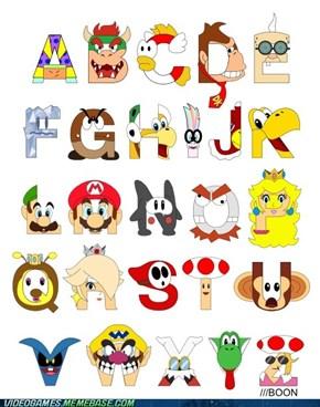 Super Mario Alphabet