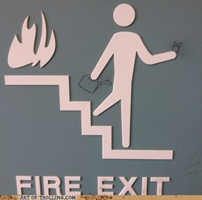 Some me just want to watch the stairs burn