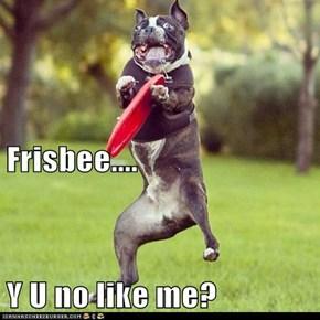 Frisbee.... Y U no like me?