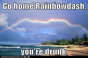 Go home Rainbowdash,  you're drunk.