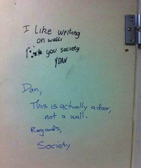 Bathroom Graffiti Response WIN