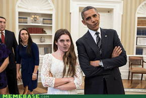 Obama Self-Facebomb