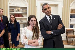 Obama Self-Facebomb