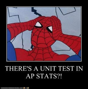 THERE'S A UNIT TEST IN AP STATS?!