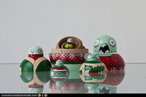 Zombie Holiday Sweater Matryoshka