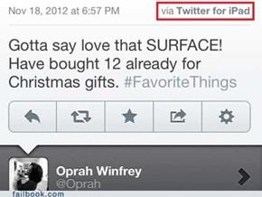 Nice Try, Oprah...