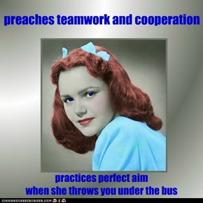 preaches teamwork and cooperation