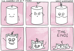 The miserable life of a candle