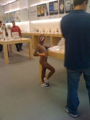 Don't Let Your Little Monkeys Run Around Our Apple Store