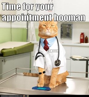 Time for your appointment hooman