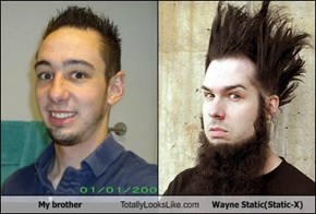 My brother Totally Looks Like Wayne Static(Static-X)