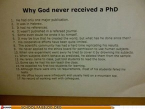 God Wouldn't Do Well in the Academic Community