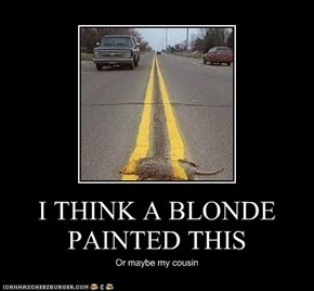I THINK A BLONDE PAINTED THIS