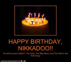 HAPPY BIRTHDAY, NIKKADOO!!