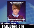 Justin Bieber was Bad Luck Brian