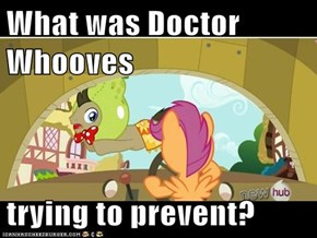What was Doctor Whooves  trying to prevent?