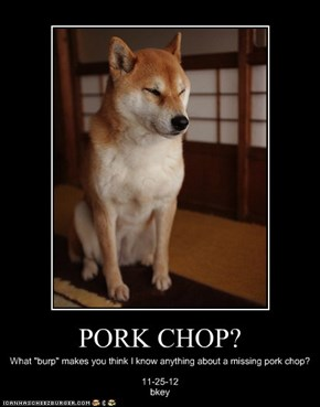 PORK CHOP?