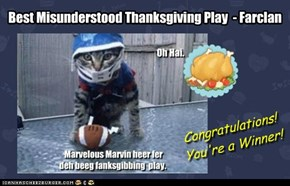 Best Misunderstood Thanksgiving Play  - Farclan