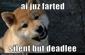 ai juz farted  silent but deadlee